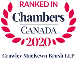 Chambers Canada recognizes CMB and lawyers Alistair Crawley, Melissa MacKewn and Robert Brush