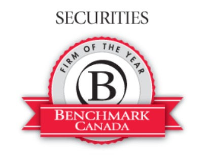 Crawley MacKewn Brush LLP named Securities Litigation Firm of the Year for the third year in a row by Benchmark Litigation