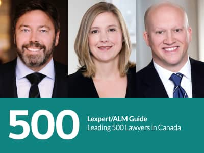 photo ofAlistair Crawley, Melissa MacKewn & Robert Brush - Ranked in Leading 500 Lawyers in Canada
